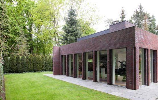 detail moderne villa laten bouwen door aannemersbedrijf wielink