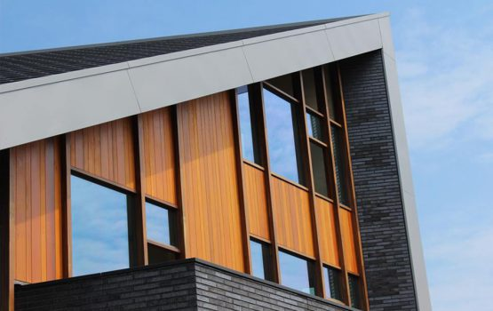 detail bouw moderne villa in zwolle door aannemersbedrijf Wielink