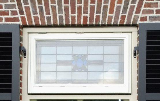 glas in lood ramen landelijke woning