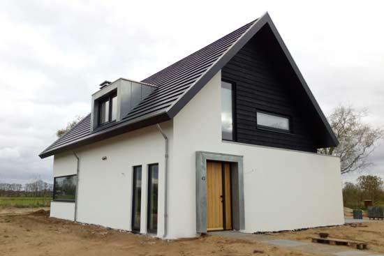 moderne strakke woning laten bouwen putten