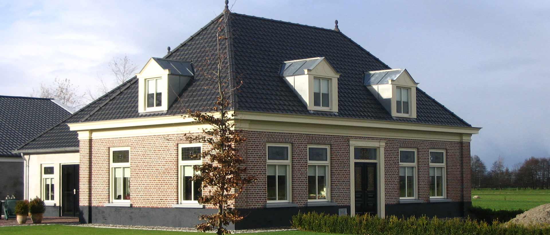 Bouw landelijke vrijstaande woning door aannemersbedrijf Wielink