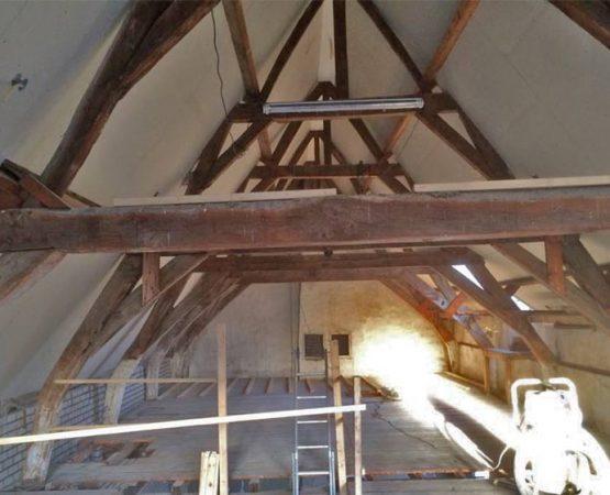 Verbouw historisch pand in binnenstad van Harderwijk door aannemersbedrijf Wielink