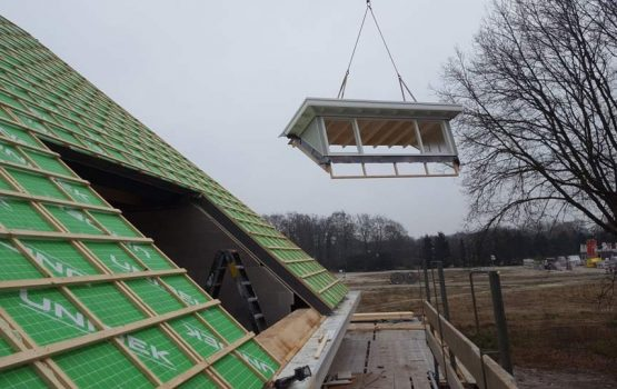Bouw van vrijstaande woning op plan Molenbeek in Nunspeet, door aannemersbedrijf Wielink