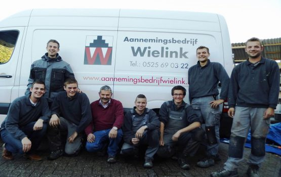 Het bouwteam van aannemersbedrijf Wielink