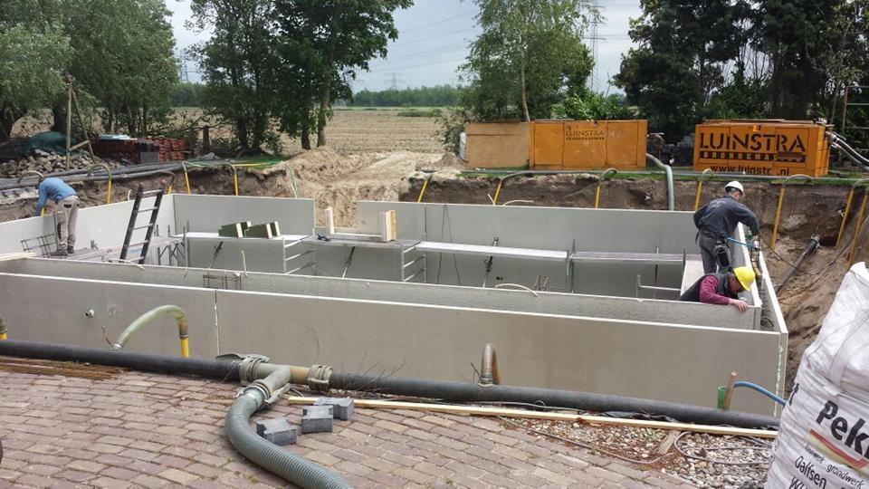 prefab betonkelder laten storten in zwolle door aannemersbedrijf bouwbedrijf wielink