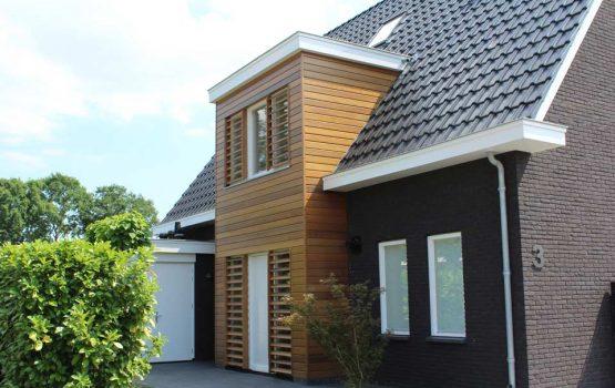 detail moderne woning - modern huis bouwen in Elburg (1) erker