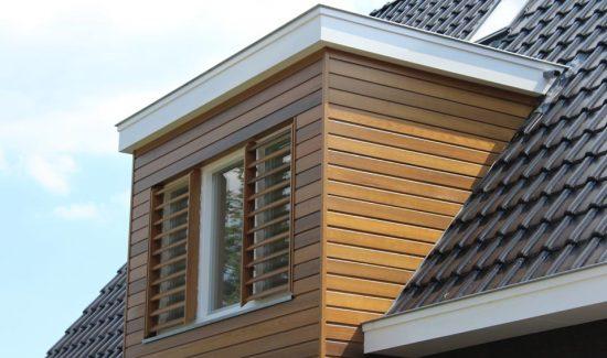 detail moderne woning - modern huis bouwen in Elburg (1) dakuitbouw