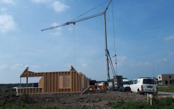 houtskeletbouw woning (HSB) aannemer bouwt in Almere aannemersbedrijf Wielink