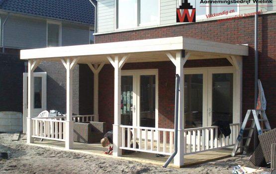 houten aanbouw veranda