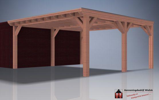 aanbouw carport - op maat gemaakt- maatkwerk - douglas of eiken aanbouw carport (1)