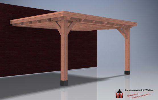 aanbouw carport - op maat gemaakt- maatkwerk - douglas of eiken aanbouw carport (2)