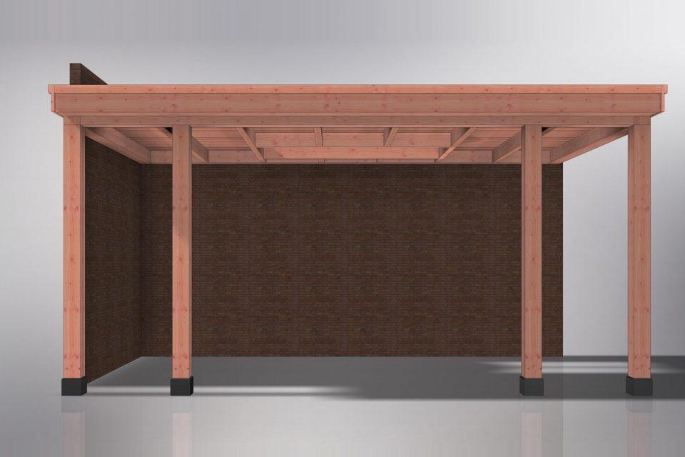 houten veranda - aanbouw veranda aan huis - terrasoverkapping