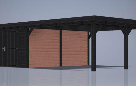 carport met overkapping doulgas op maat bouwen