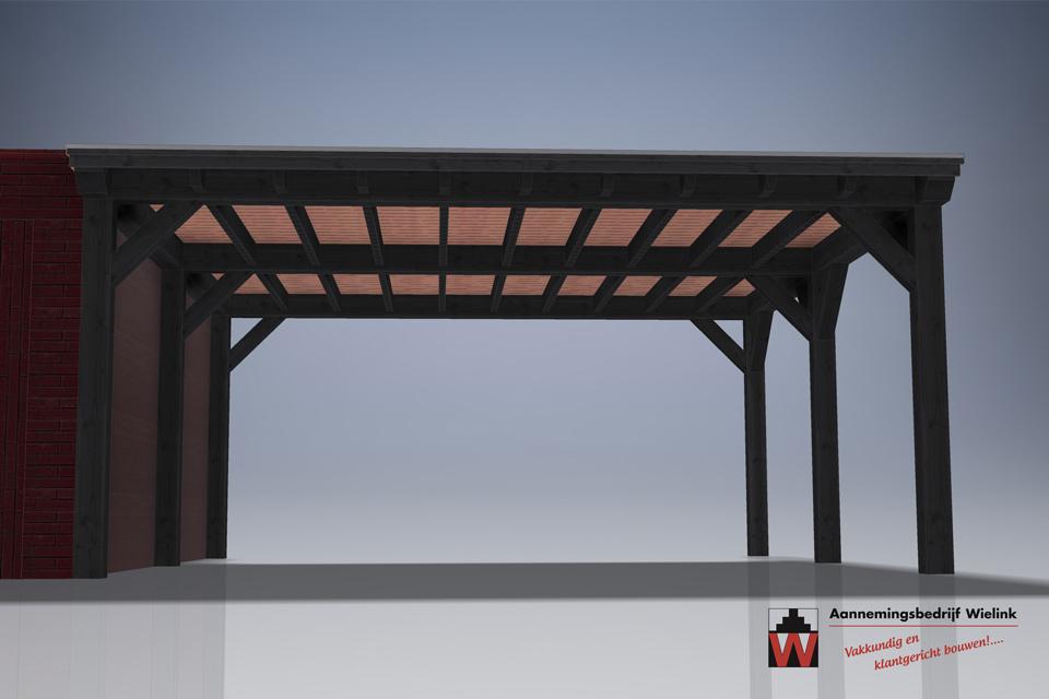carport op maat - carport met schuur - carport bouwpakket - Douglas of eiken carport (4)