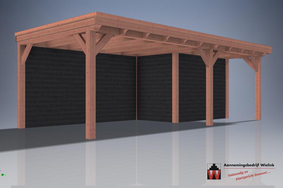 Carport - Schuur met carport - bouwpakket - Gelderland - utrecht - flevoland - overijssel -1