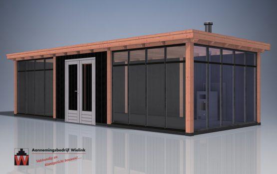Houten tuinkamer - tuinkantoor - tuinatelier - geisoleerd - exclusieve houtbouw (1)
