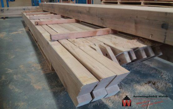 prefab bouwpakket houten overkapping - kapschuur van eiken of douglas