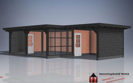 douglas of eiken poolhouse - houten poolhouse - prijs poolhouse