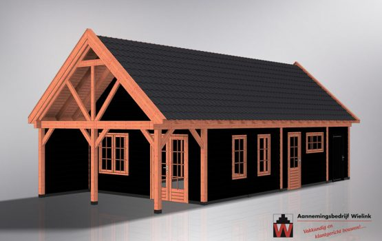 grote houten schuur - landelijke schuur - schuur met zolder of vide - grote schuur bouwen - schuur kopen