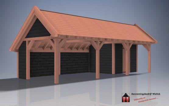 houtbouw wielink kapschuur met berging van douglas of eiken - kapschuur als bouwpakket - kapschuur op maat (6)