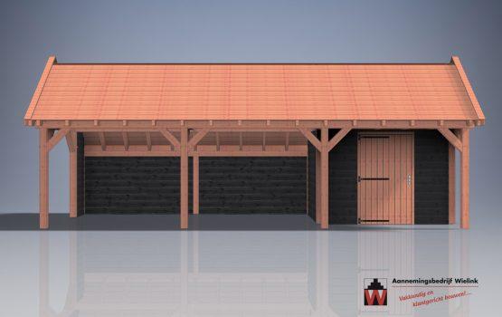 houtbouw wielink kapschuur met berging van douglas of eiken - kapschuur als bouwpakket - kapschuur op maat (7)