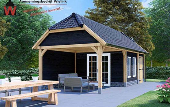 Houten schuur bouwen met wolfskap - wolfseinden - Exclusieve houtbouw aannemersbedrijf Wielink (2)