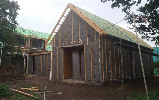 geïsoleerde houtskeletbouw schuur - exclusieve houtbouw aannemersbedrijf Wielink