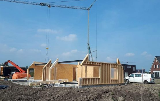 Houtskeletbouw woning - houten huis - exclusieve houtbouw aannemersbedrijf - bouwbedrijf Wielink - Prefab houten huis bouwen