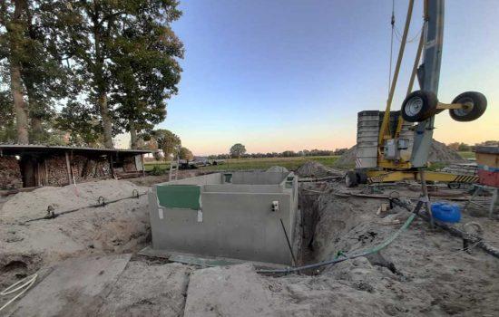 bouw van kelder onder landelijke seniorenwoning- kelderbouw aannemersbedrijf Wielink (1)
