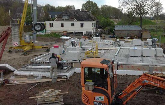 bouw van woonkelder onder twee onder één kap woning - kelderbouw aannemersbedrijf Wielink (3)