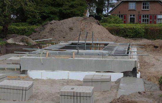 bouw van woonkelder onder vrijstaande woning in elburg - kelderbouw aannemersbedrijf Wielink