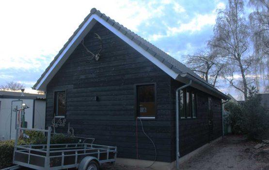 geïsoleerde berging /schuur van houtskeletbouw - Exclusieve houtbouw aannemersbedrijf Wielink