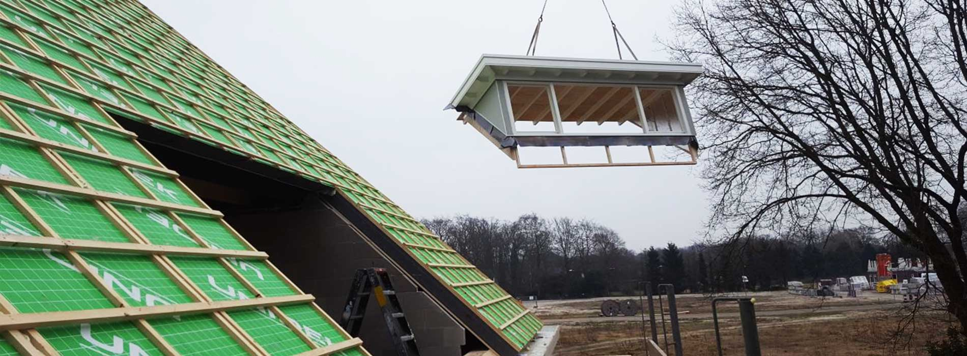 prefab dakkapel gemaakt in machinale timmerfabriek van aannemersbedrijf Wielink uit elburg
