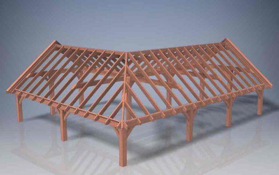 kapschuur in hoek - hoekmodel - L-vorm - Houtbouw aannemersbedrijf Wielink (3)