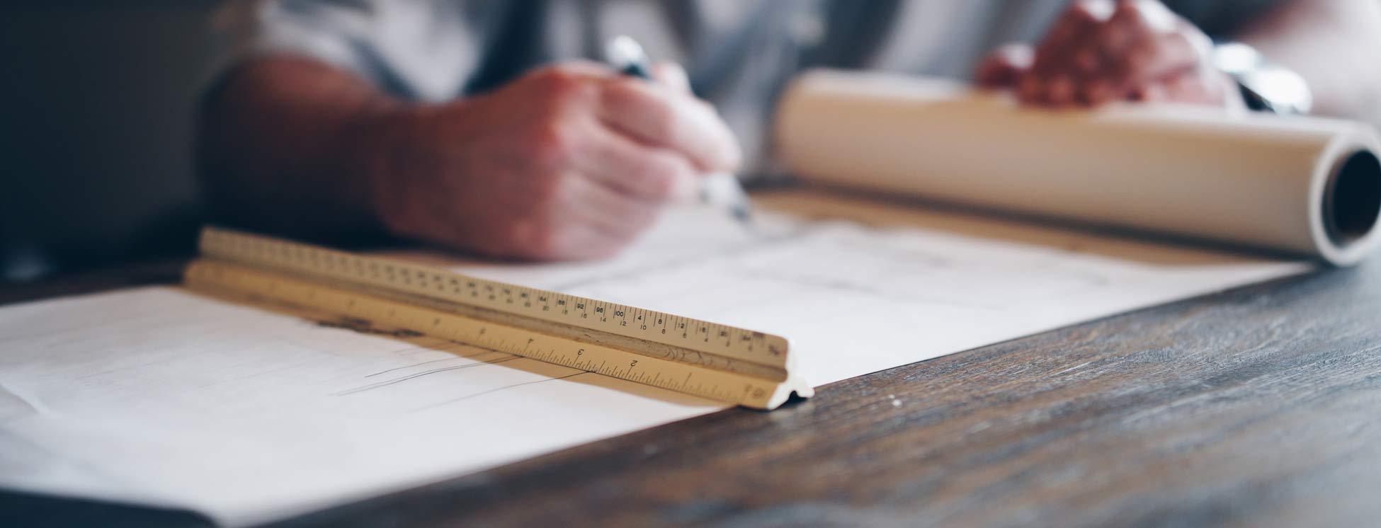 ontwerpen of tekenen van schuur, buitenverblijf, overkapping. Houtbouw Wielink doet het gratis voor u. Gratis bouwtekening