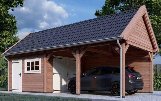 Naast veel maatwerk schuren kunt u ook bij aannemersbedrijf Wielink terecht voor een mooie prefab bouwpakket houten schuur