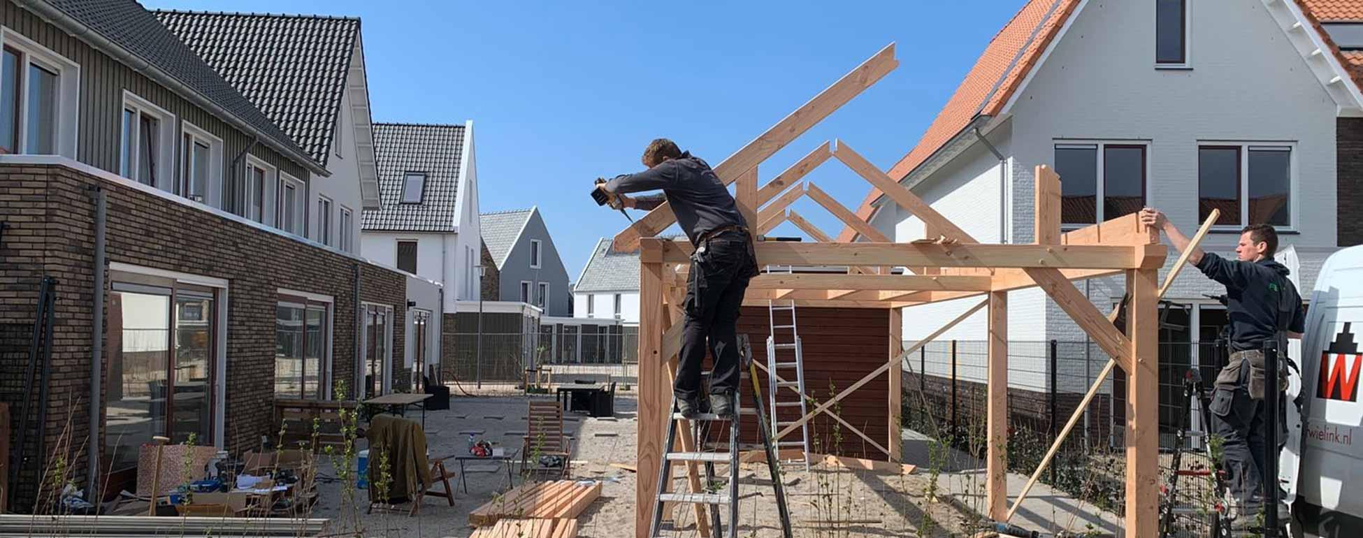 Wielink houtbouw - Exclusieve houtbouw zoals schuren met overkappingen, veranda's, kapschuren